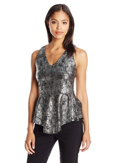 Karen Kane Women's Metallic Peplum Top  S