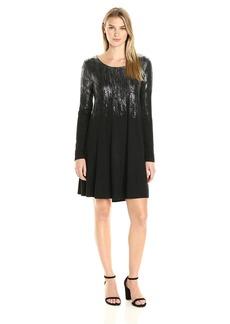 Karen Kane Women's Metallic Print Maggie Dress  S