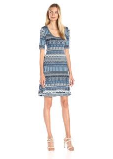 Karen Kane Women's Mosaic Stripe T-Shirt Dress
