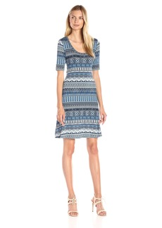 Karen Kane Women's Mosaic Stripe T-Shirt Dress
