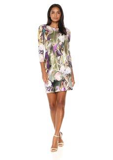 Karen Kane Women's Painted Floral Sheath Dress  M