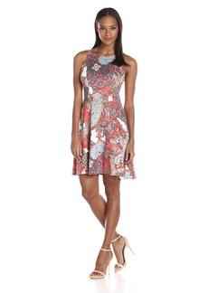 Karen Kane Women's Paisley Flare Dress  S