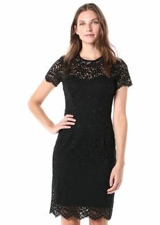 Karen Kane Women's Paris LACE Dress Black with Black