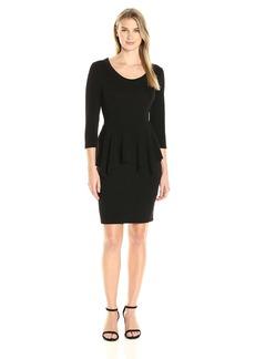 Karen Kane Women's Peplum Sweater Dress  L