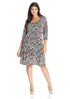 Karen Kane Women's Plus-Size 3/4 Sleeve Dress  1X
