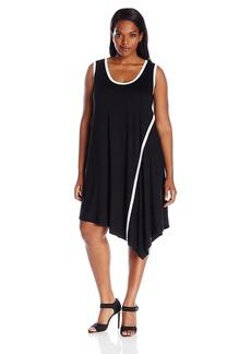Karen Kane Women's Plus Size Angled Drape Dress  0X