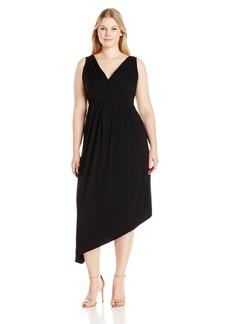 Karen Kane Women's Plus Size Asymmetric Maxi Dress  1X