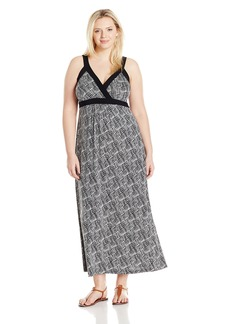 Karen Kane Women's Plus Size Banded Maxi Dress  1X