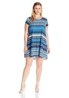 Karen Kane Women's Plus Size Blue Mesa Maggie Trapeze Dress  3X