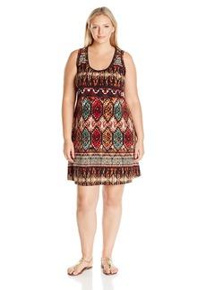Karen Kane Women's Plus Size Border Dress  2X