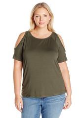 Karen Kane Women's Plus Size Cold Shoulder Top