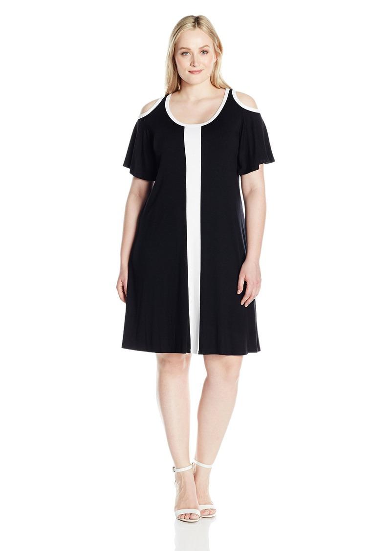 93b034b1e3698 Women s Plus Size Color Block Cold Shoulder Dress 2X. Karen Kane.  108.00   70.64. from Amazon Fashion