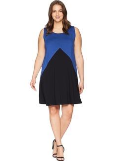Karen Kane Women's Plus Size Colorblock Dress  1X