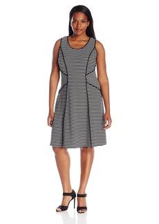 Karen Kane Women's Plus Size Contrast Binding Dress  1X