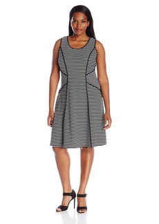 Karen Kane Women's Plus Size Contrast Binding Dress  2X
