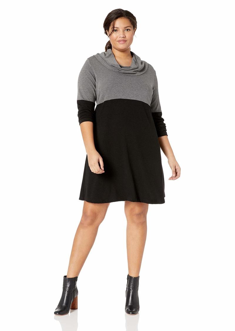Karen Kane Women's Plus Size Cowl Neck Taylor Dress  3X