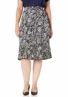 Karen Kane Women's Plus Size Crushed Tiered Maxi Skirt