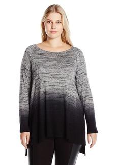 Karen Kane Women's Plus Size Dip-Dye Hi-Lo Top