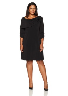 Karen Kane Women's Plus Size Drape Boatneck Dress  0X