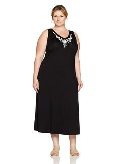 Karen Kane Women's Plus Size Embroidered Alana Maxi Dress  2X