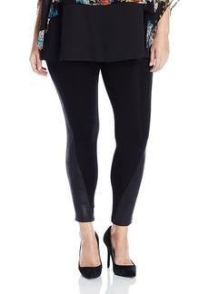 Karen Kane Women's Plus Size Faux Leather Panel Legging  1X