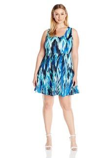 Karen Kane Women's Plus Size Fit-And-Flare Dress  2X