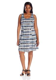Karen Kane Women's Plus Size Fit-and-Flare Dress  3X