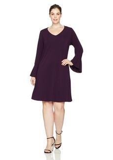Karen Kane Women's Plus Size Flare Sleeve Taylor Dress  2X