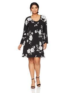 Karen Kane Women's Plus Size Flare Sleeve Taylor Dress  3X