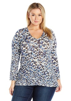 Karen Kane Women's Plus Size Flared Sleeve Hi-Lo Top