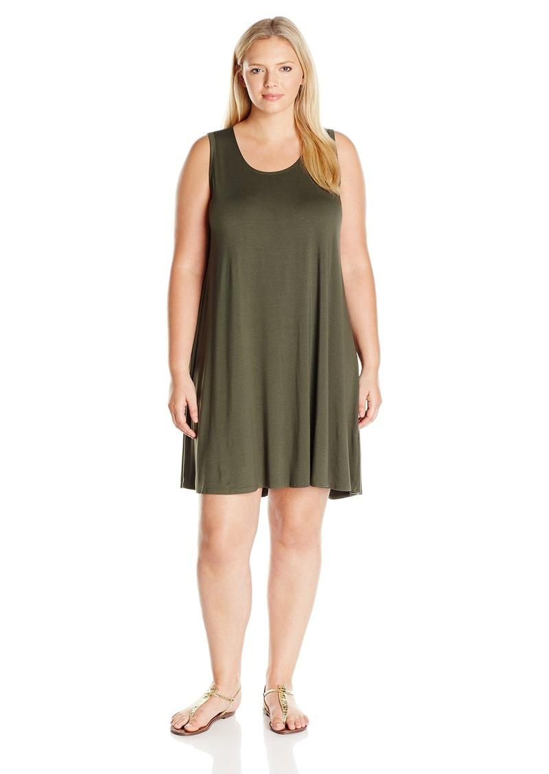 Karen Kane Women's Plus Size Green Maggie Trapeze Dress  3X