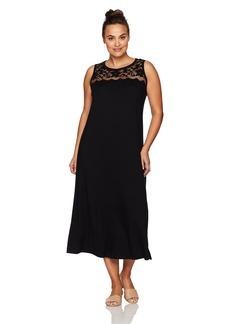 Karen Kane Women's Plus Size Lace Yoke Maxi Dress  2X