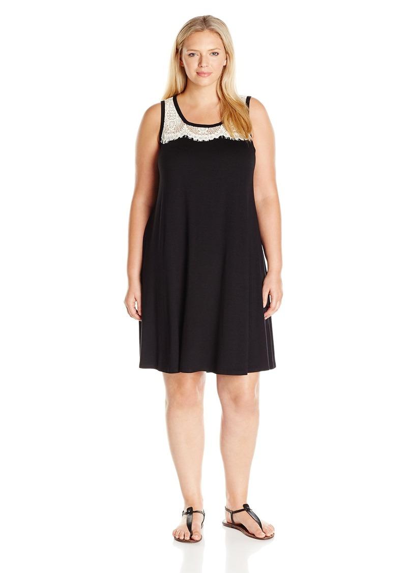 d674aa783aa80 Karen Kane Karen Kane Women s Plus Size Lace Yoke Trapeze Dress 1X
