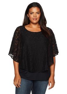 Karen Kane Women's Plus Size Layered Lace Top