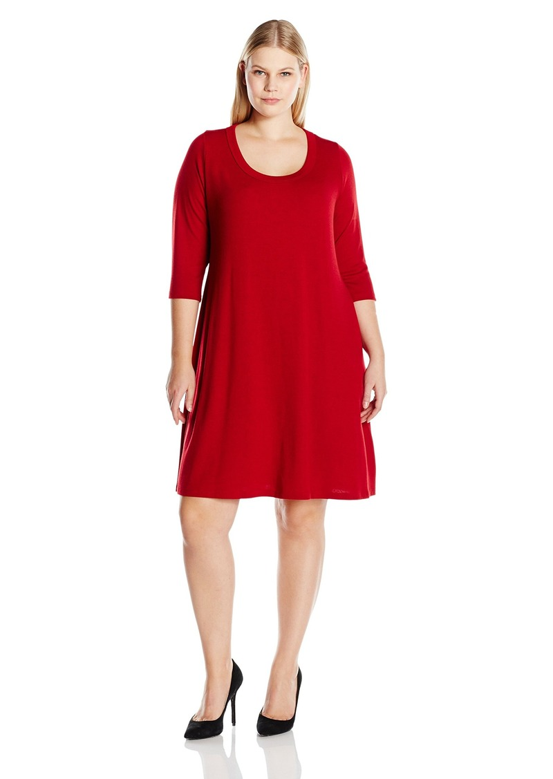 ec26d7a84ffc Karen Kane Karen Kane Women s Plus Size Line Sweater Dress 1X
