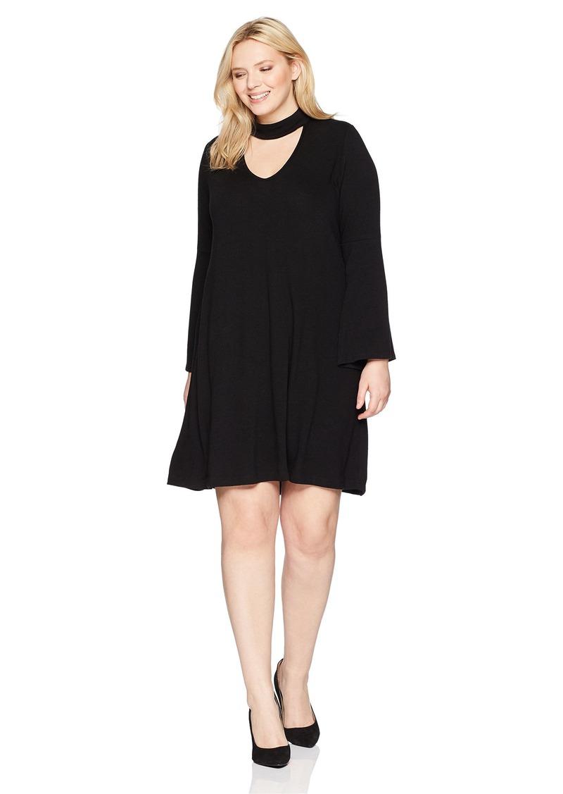 Karen Kane Women's Plus Size  Mockneck Taylor Dress 2X