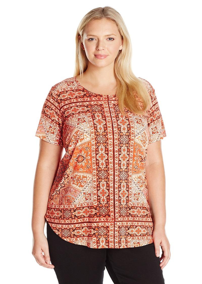 Karen Kane Women's Plus Size Sagebrush Shirttail Hem Top