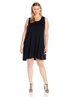 Karen Kane Women's Plus Size Sleeveless Maggie Trapeze Dress  1X