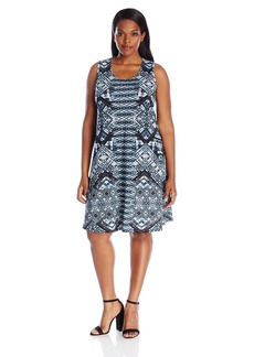 Karen Kane Women's Plus Size Sleeveless Maggie Trapeze Dress  2X