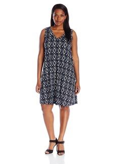 Karen Kane Women's Plus Size Sleeveless V-Neck Dress  1X