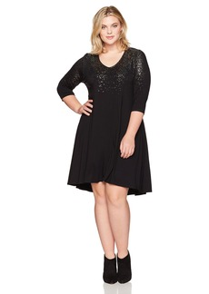 Karen Kane Women's Plus Size Speckled Print Dress  2X
