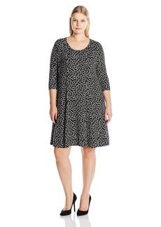 Karen Kane Women's Plus Size Spotted Print Dress  3X