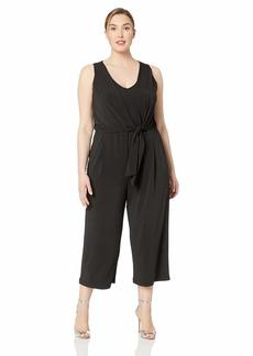 Karen Kane Women's Plus Size TIE-Front Jumpsuit