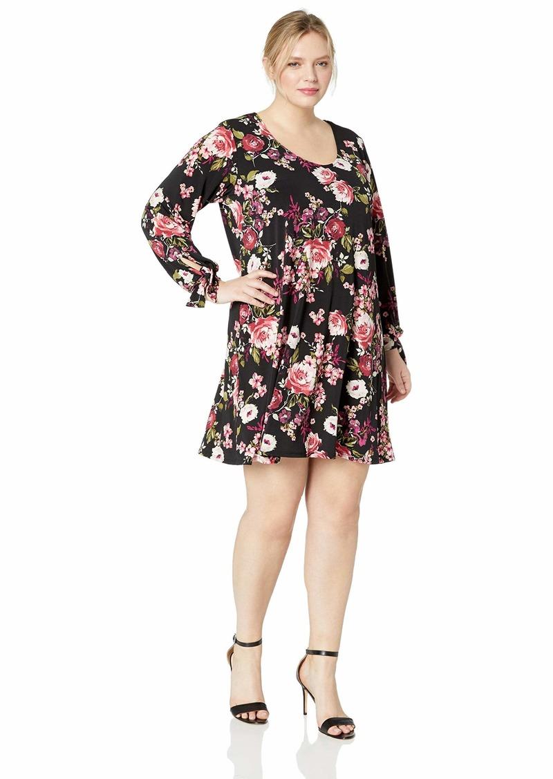 Karen Kane Women's Plus Size TIE-Sleeve Taylor Dress  3X