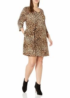 Karen Kane Women's Plus Size V-Neck Pocket Dress