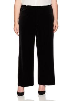 Karen Kane Women's Plus Size Wide Leg Velvet Pant