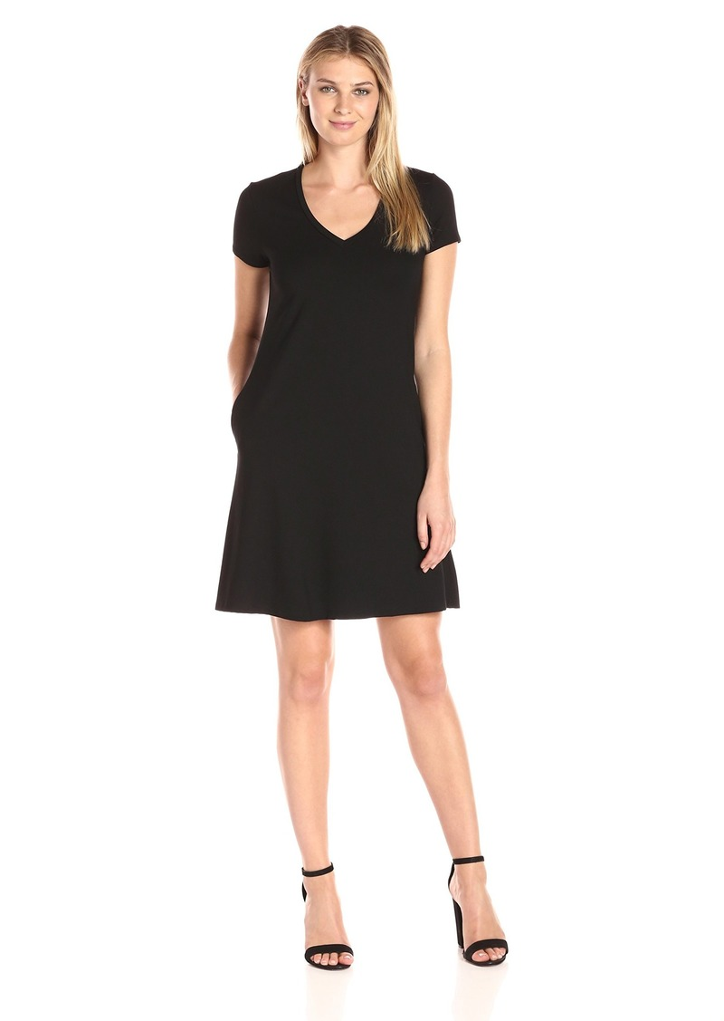 Karen Kane Women's Quinn V-Neck Pocket Dress  XS