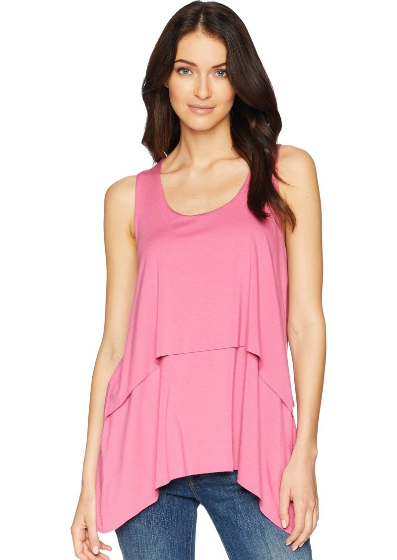 Karen Kane Women's RAW Hem Layered Tank