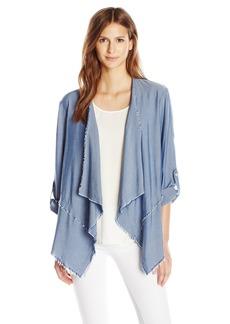 Karen Kane Women's Roll-Sleeve Drape Jacket