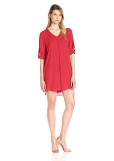 Karen Kane Women's Roll-up Sleeve Dress  L
